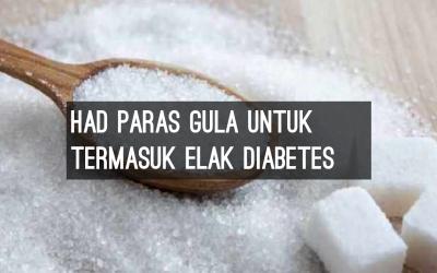 Nak tahu berapa jumlah gula untuk kena kencing manis?